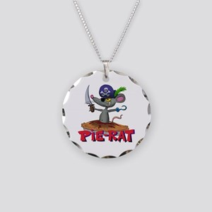 Pie-rat pirate Necklace Circle Charm