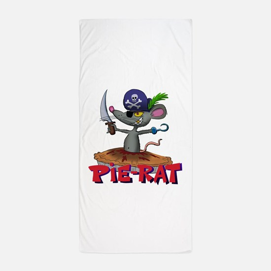 Pie-rat pirate Beach Towel