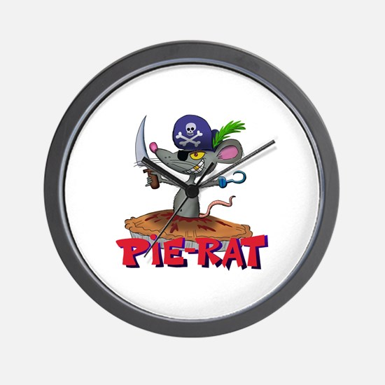 Pie-rat pirate Wall Clock