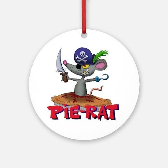 Pie-rat pirate Round Ornament