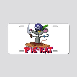 Pie-rat pirate Aluminum License Plate