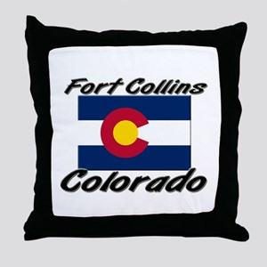 Fort Collins Colorado Throw Pillow