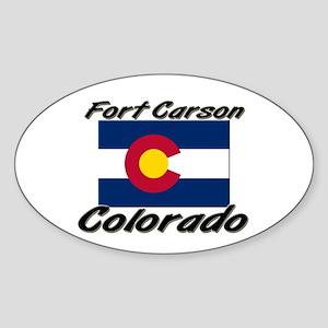 Fort Carson Colorado Oval Sticker