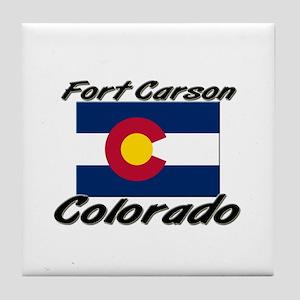 Fort Carson Colorado Tile Coaster