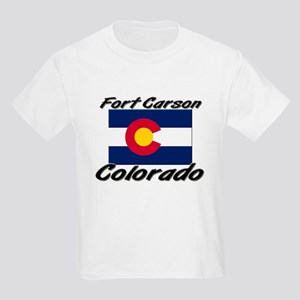 Fort Carson Colorado Kids Light T-Shirt