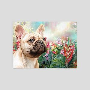 French Bulldog Painting 5'x7'Area Rug