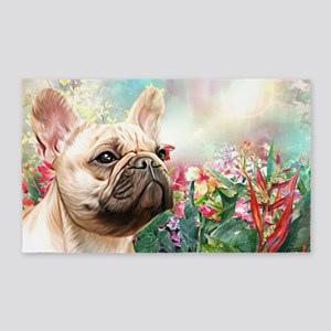 French Bulldog Painting Area Rug