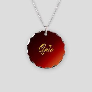 grandma oma Necklace Circle Charm
