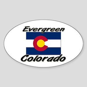 Evergreen Colorado Oval Sticker
