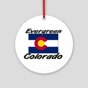 Evergreen Colorado Ornament (Round)