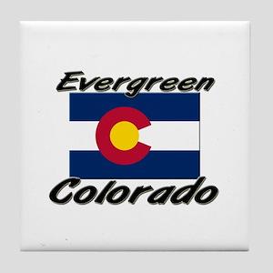 Evergreen Colorado Tile Coaster