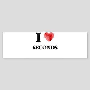 I Love Seconds Bumper Sticker
