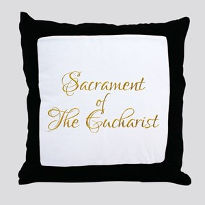 Sacrament of The Eucharist Throw Pillow