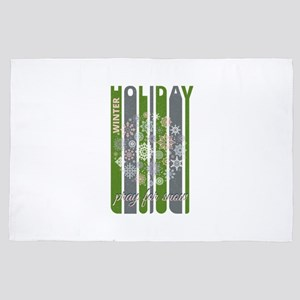 Winter Holiday.Pray for snow Gifts.Sno 4' x 6' Rug