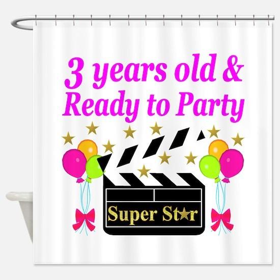3RD BIRTHDAY Shower Curtain