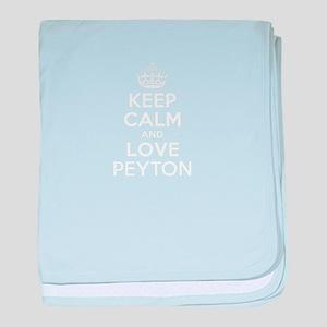Keep Calm and Love PEYTON baby blanket