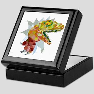 Raptor Breaking Out Low Polygon Keepsake Box