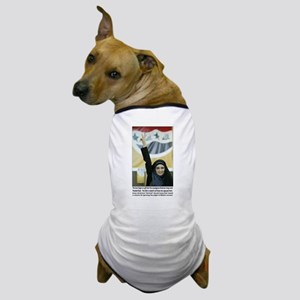 Purple finger Iraqi Arab woman Dog T-Shirt