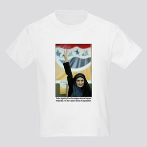 Blue Ink Iraqi Arab Woman Voting Kids T-Shirt