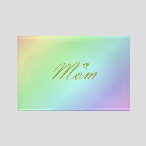 golden text mom Magnets