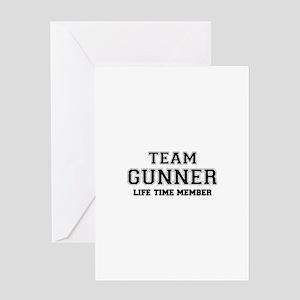 Team GUNNER, life time member Greeting Cards
