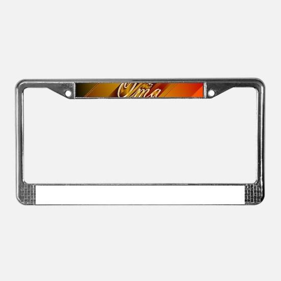 oma License Plate Frame