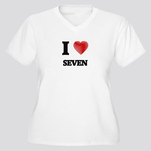 I Love Seven Plus Size T-Shirt