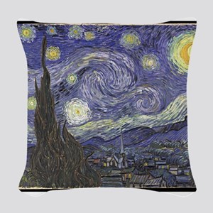 VanGogh-starry_night Woven Throw Pillow