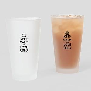Keep Calm and Love OREO Drinking Glass
