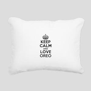Keep Calm and Love OREO Rectangular Canvas Pillow