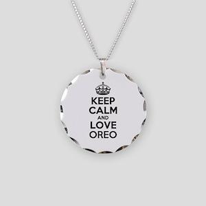Keep Calm and Love OREO Necklace Circle Charm