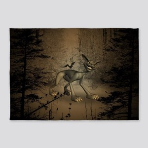In the dar forest 5'x7'Area Rug