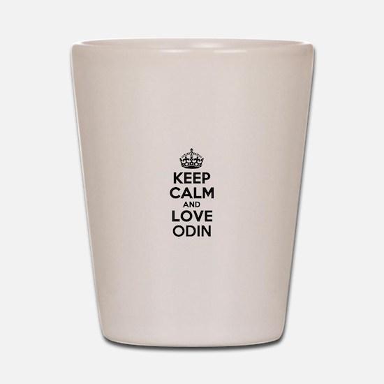 Keep Calm and Love ODIN Shot Glass