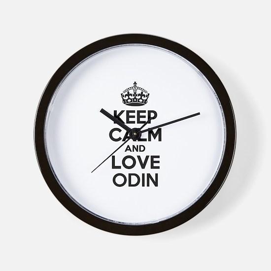 Keep Calm and Love ODIN Wall Clock