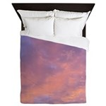 pink sunset sky Queen Duvet