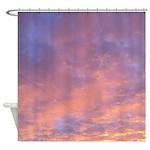 pink sunset sky Shower Curtain