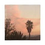 Palm Tree sunset Queen Duvet