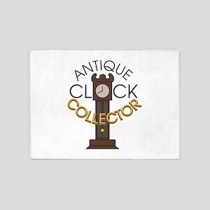Clock Collector 5'x7'Area Rug