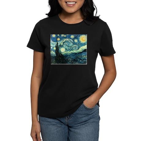Van Gogh Starry Night Women's Dark T-Shirt