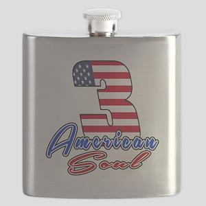 3 American Soul Birthday Designs Flask