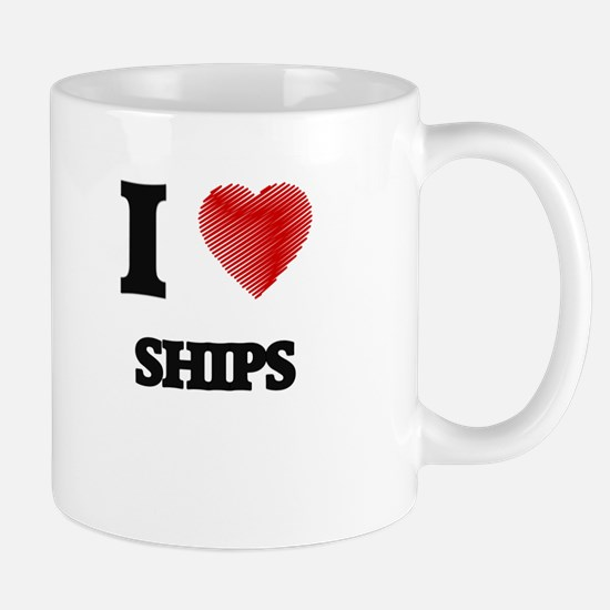 I Love Ships Mugs