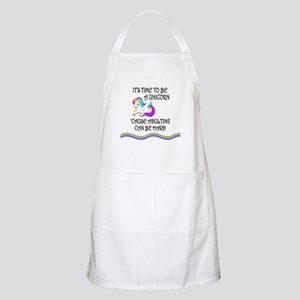 Be A Unicorn When Adulting Is Hard Light Apron