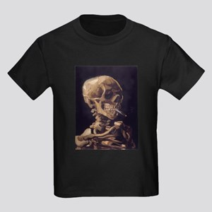 Van Gogh Skull with a Burning Cigarette Kids Dark
