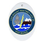 USS Mount Whitney (LCC 20) Oval Ornament