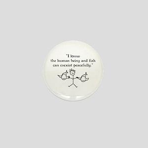 Fish & Humans Coexist Mini Button