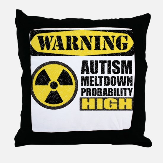 Autism Meltdown Probable Throw Pillow