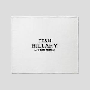 Team HILLARY, life time member Throw Blanket