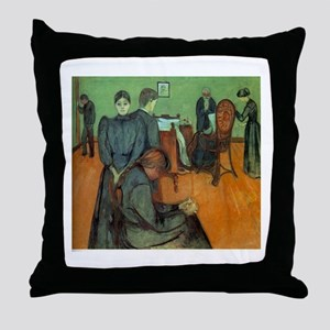 Munch Death in the Sickroom Throw Pillow