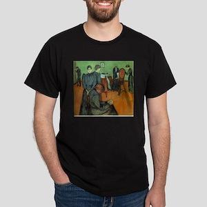 Munch Death in the Sickroom Dark T-Shirt