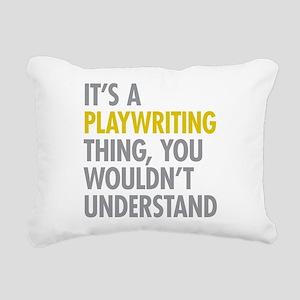 Playwriting Rectangular Canvas Pillow